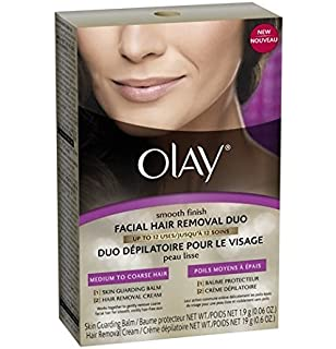 Olay Smooth Finish Facial Hair Removal Duo - Medium To Coarse Hair, Box. by