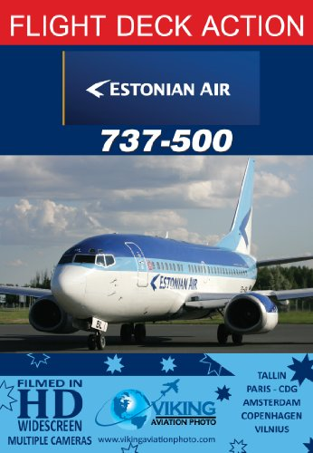 Estonian Air B737-500 | Cockpit Video | Flightdeck Action