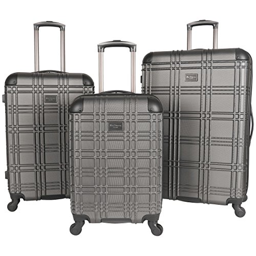 Luggage Set Lined - Ben Sherman Nottingham 3-Piece Lightweight Hardside 4-Wheel Spinner Travel Luggage Set: 20
