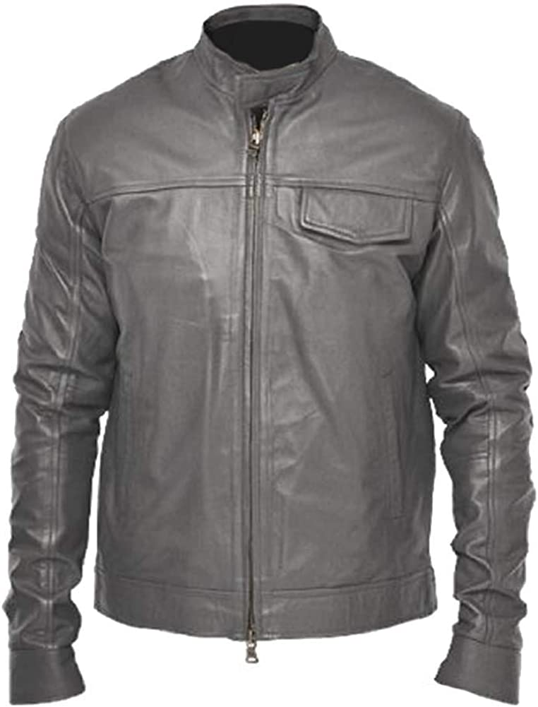 Stormwise Mens Moto Transformer Real Leather Jacket