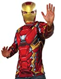 Captain America: Civil War Iron Man Costume Top and Mask