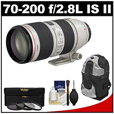 Canon EF 70-200mm f/2.8 L IS II USM Zoom Lens with Backpack Case from Canon Cameras