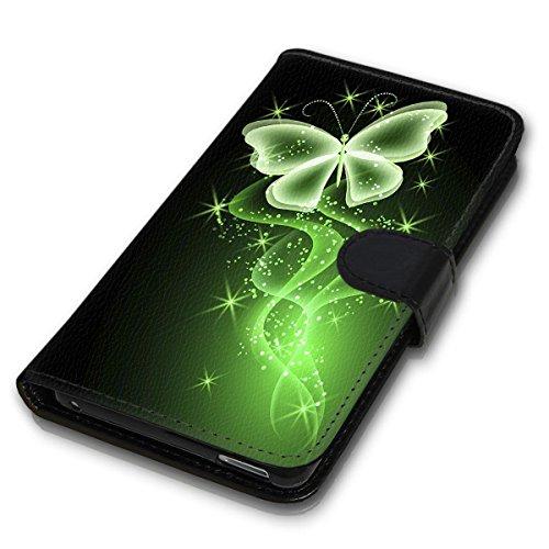 Wallet Book Style Flip Handy Tasche Case Schutz Hülle Schale Motiv Etui für Apple iPhone 6 / 6S - Design Flip MVD441