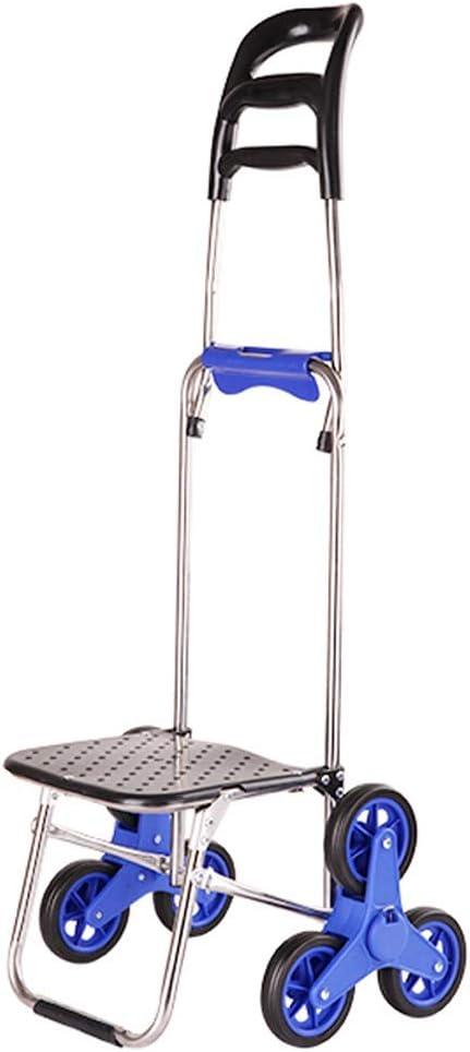 Zxb-shop-carritos de la compra Creative Can Climb Stairs Cart Portable Plegable Shopping Cart for Comprar Comida Shopping Cart (Color : B)