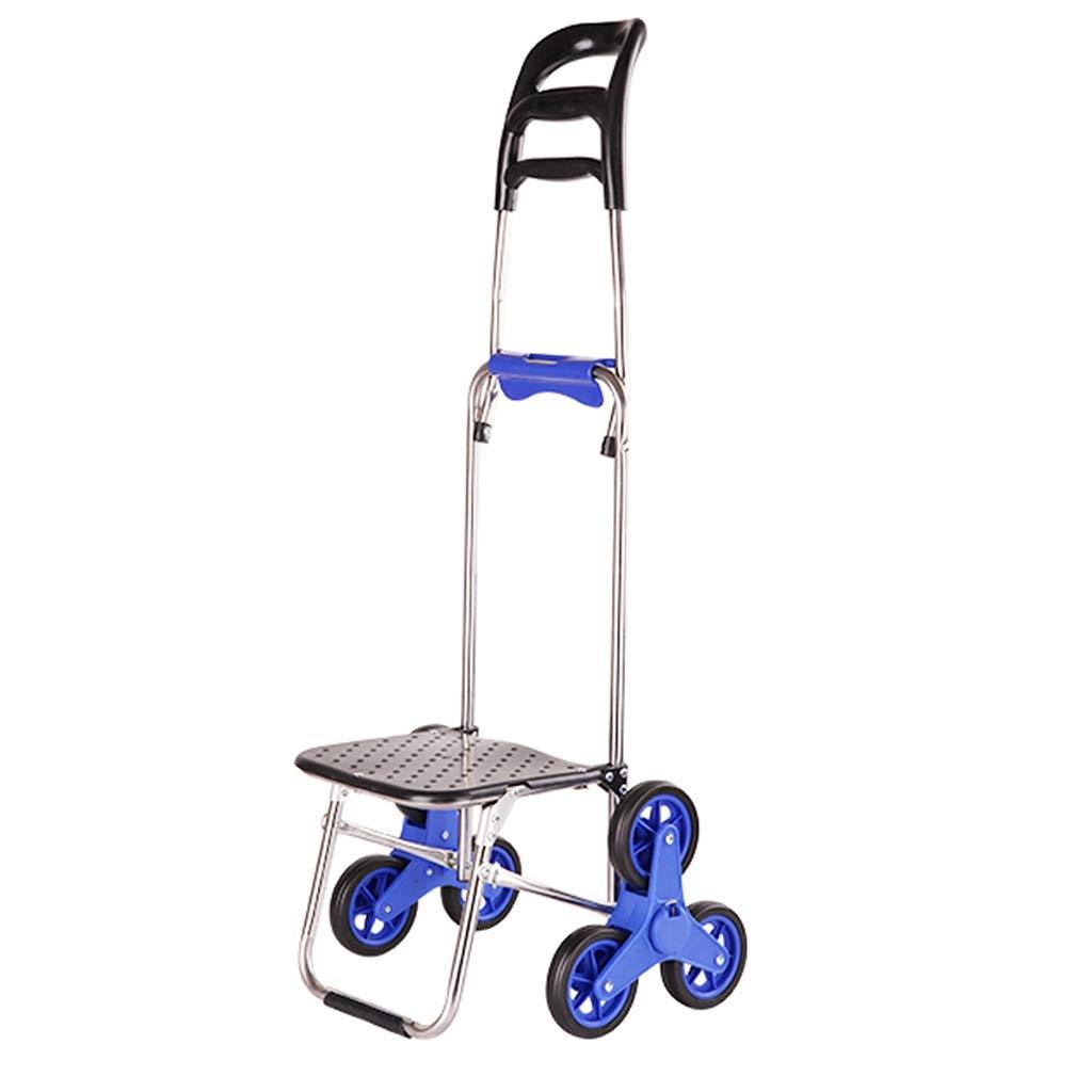 Xilinshop Portable Utility Carts Creative Can Climb Stairs Cart Portable Folding Shopping Cart to Buy Food Shopping Cart ( Color : A )