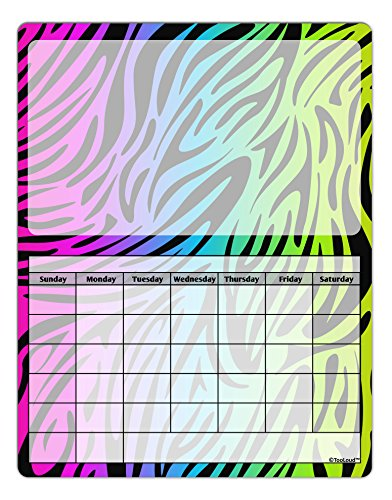 TooLoud Rainbow Zebra Print Blank Calendar Dry Erase Board All Over Print