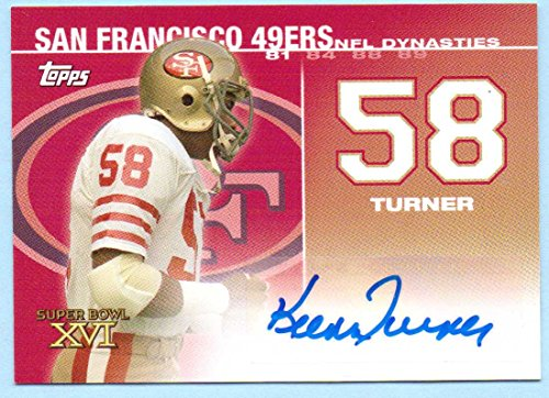 - Keena Turner 2008 Topps NFL Dynasties Authentic Autograph #DYNA-KT - 131/500 - San Francisco 49ers