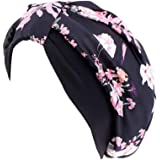 Atiluo Soft and Breathable Turban Women Print Bonnet Sleep Cap Polyester Elasticity Chemo Caps
