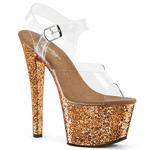 Talons Clr Glitter Compensée 801 Flamingo Et Pleaser Femme Semelle Bronze ZqBXPPSa