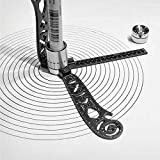Compass Metallic Ruler All-in-one Multi-Function Drawing Compass Versatile Combo Patterns Drawing Ruler Set Magnetic Drawing Tool Bottle Opener