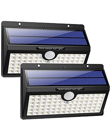 HETP Luz Solar/Foco Solar Exterior 78 LED con Sensor de Movimiento 2000mAh Iluminación de