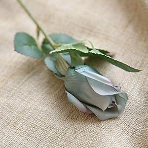 YJYdada 6 Pcs Pretty DIY Artificial Silk Fake Flowers Rose Floral Wedding Home Decor (D) 3