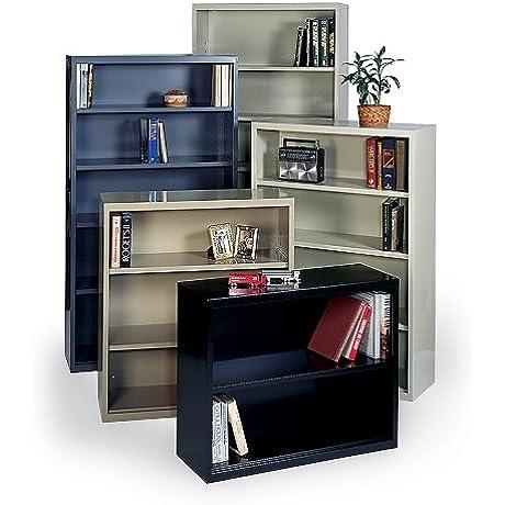 Edsal EBC42TN Welded Steel Bookcase Pre Assembled 3 Shelves 36 W X 13 D X 40 H Tan