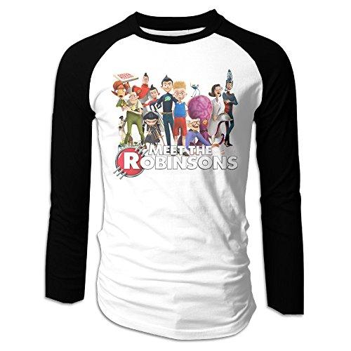 MEGGE Meet The Robinsons6 Men Bottoming Shirt Black M (Peas Eyed Black Ray Blu)