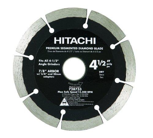 (Hitachi 728733 4-1/2-Inch Dry Cut Segmented Rim Diamond Saw Blade for Concrete and Masonry)