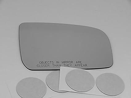 Right Passenger Convex Mirror Glass Lens w//Adhesive USA Fits 89-98 Mazda MPV