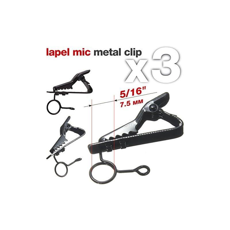 """Lapel Mic Clip 5/16"""" (7,5mm) Lavalier Microphone Clip Lapel Microphone Clip Lav Mic Clip Lapel Mic Replacement Kit"""