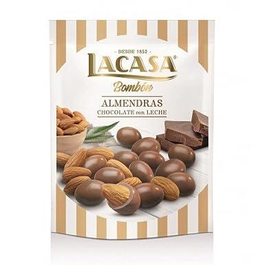 LACASA - BOMBÓN - ALMENDRAS CON CHOCOLATE CON LECHE - 125 GR: Amazon.es: Alimentación y bebidas