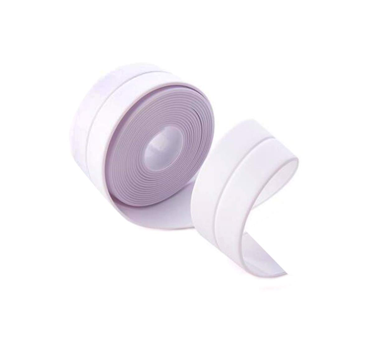 Self Adhesive Caulk Strip, Tub and Wall Sealing Tape Caulking Sealant Decorative Trim for Bathroom, Kitchen and Toilet, 38 mm x 3.2 m (White)