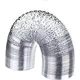 "SPL 6"" Black Inside Non-insulated Ducting Aluminum Foil Vent 25 Feet 6"""