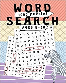 1000 PUZZLES Word search ages 8-10: Large Print Kids
