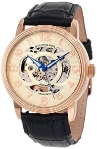 Stuhrling Original Men's 107EM.334531 Classic Delphi Rose-tone Automatic Skeleton Watch Gift Set