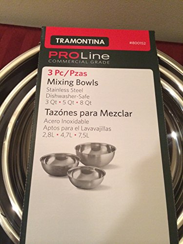 Purchase Tramontina Stainless Steel Mixing Bowls Set, 3 Pieces online