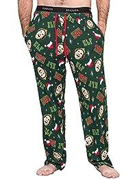 Elf OMG! Santa! Adult Hunter Green Pajamas Lounge Pants