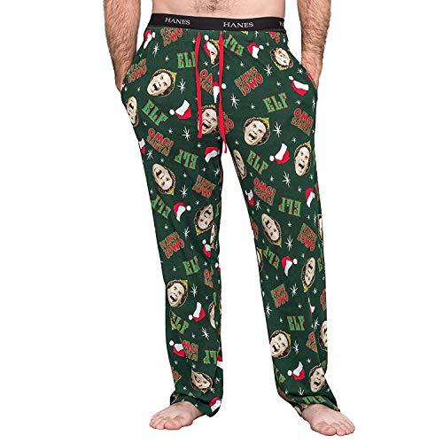 Buddy The Elf Clothing (Underboss Elf OMG! Santa! Hunter Green Pajamas Lounge Pants (Adult)