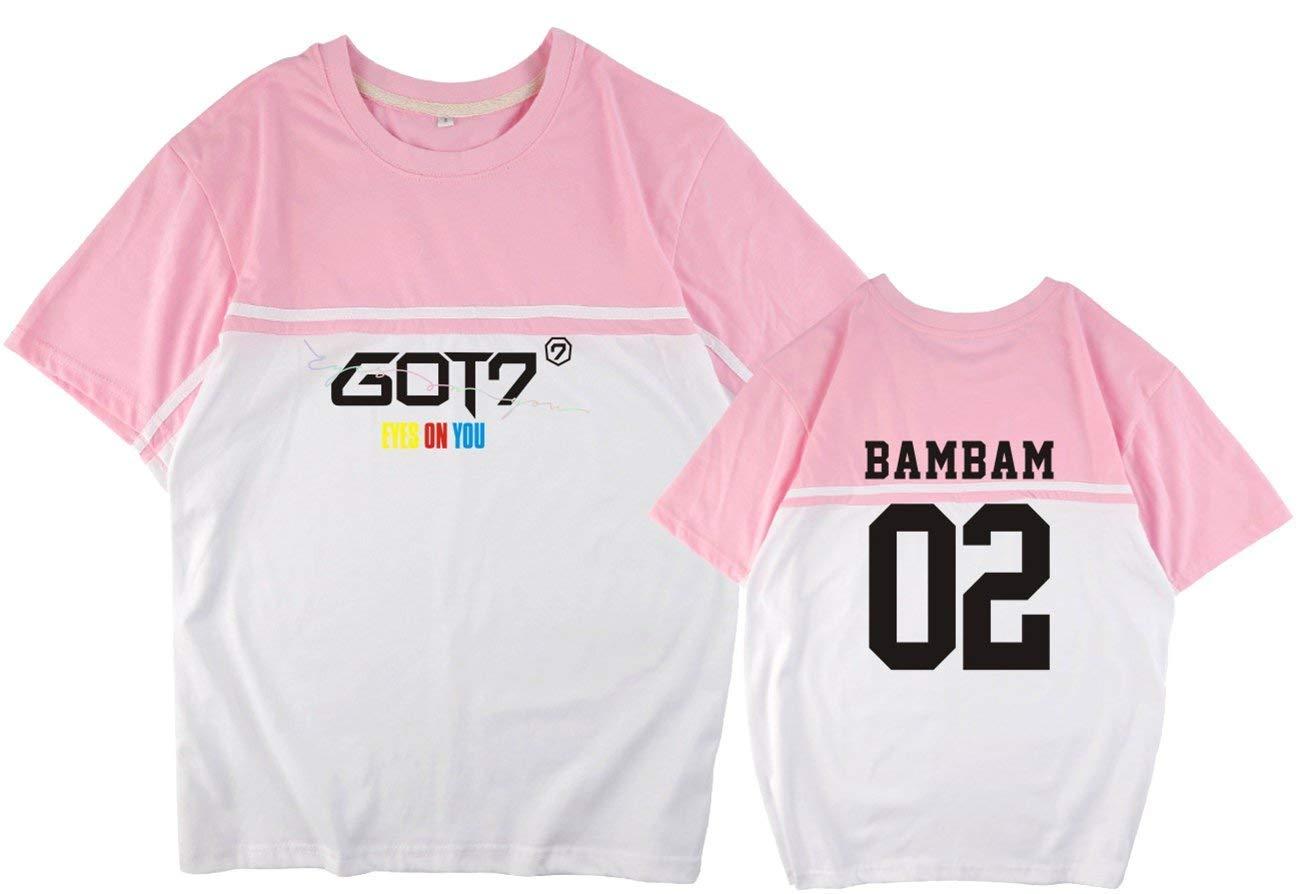 ED Express Kpop GOT7 T-Shirt Bambam Jackson Mark Jinyoung Yugyeom Youngjae Tee Shirt