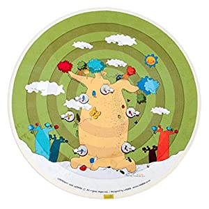 """[LEPAPA] 51.2"""" Baby Kids Toddler Le Bonheur Microfiber Baobab Tree Lite Play Mat Carpet for Indoor and Outdoor Use, 3D Graphic, Interactive & Complex Play"""