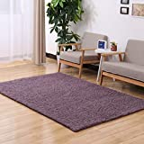 KKONION Area Rugs Solid Color Fashion Soft Carpet Living Room Decor Door Carpets Warm Bedroom Floor Slip Resistant Mats