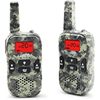 Kids Walkie Talkies, 22 Channel FRS/GMRS 2 Way Radio 2 miles (up to 3.7 Miles) UHF Handheld Walkie Talkies for Kids (1 Pair) Camo