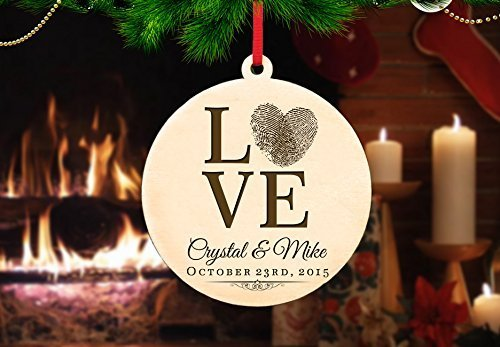 Personalized Christmas Ornament- Love - Print Ray Ban