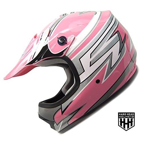 HHH DOT Youth Helmet for Dirtbike ATV Motocross MX Offroad Motorcyle Helmet with VISOR