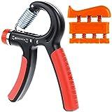 Rovtop Hand Power Grip Strengthener Exerciser - 10 to 40Kg Forearm Strength Training Adjustable Heavy, and 1 Finger Exerciser