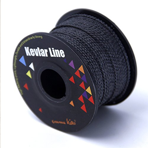 Lift Kites (EMMAKITES 100% Braided Kevlar String Tensile Option High Tensile for Outdoor Activities, Tactical, Survival and other General Purpose (500ft, 200lb))