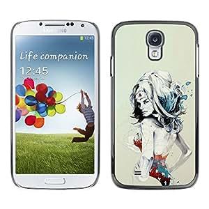 // PHONE CASE GIFT // Duro Estuche protector PC Cáscara Plástico Carcasa Funda Hard Protective Case for Samsung Galaxy S4 / W0nder Mujer Sexy Superhero /