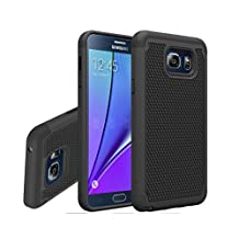 Galaxy Note 5 Case, Gefee® Hybrid Hard Cover [Drop Protection] Printed Design Pc+ Silicone Hybrid High Impact Defender Case Combo Hard Soft Case Cover for Samsung Galaxy Note 5 (Black)