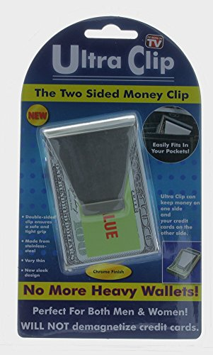 Ultra Clip Two Sided Money Clip As Seen On TV Credit Card Holder