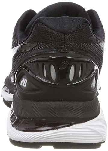 Vrouwen Asics Gel Nimbus 20, Zwart / Wit / Carbon Black / White / Carbon