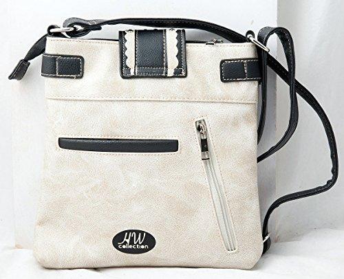 Floral Concho Beige Handbag Carry Crossbody Concealed Buckle Western Rhinestone Scroll Collection Purse HW xHqwATB