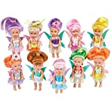 Collections Etc Girls Little Fairy Dolls Set of 10