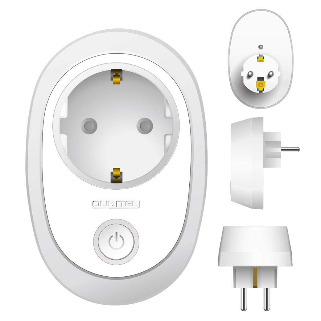Fancylande Enchufe Inteligente WiFi Smart Plug Smart Switch Socket EU Plug Control Audio Smart Timing Socket Toma inal/ámbrico