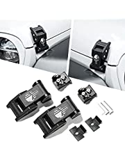 Seven Sparta Hood Latches Aluminum Hood Catch Compatible with Jeep Wrangler JK/JKU 2007-2017, JL/JLU 2018+ & Jeep Gladiator 2020+ (1 Pair)
