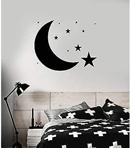 Pegatinas De Pared Luna Estrellas Cielo 73X90Cm Diy Art