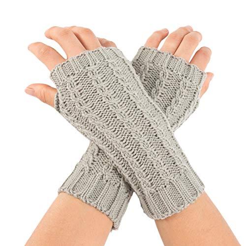 Christmas Decoration Hot Sale!!Kacowpper Women Winter Wrist Arm Warmer Solid Knitted Short Fingerless Gloves Mitten