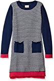 Scout + Ro Big Girls' Sweater Dress with Patch Pocket, Flag Blue, 14