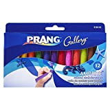 Prang Ambrite Colored Chalk for Paper, Tapered, 3.188 x 0.438 Inches, Box of 12 Sticks, Assorted Colors (53012)