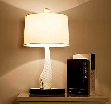 DENG Jirafa Lámpara de Mesa Dormitorio Salón Lámpara de ...